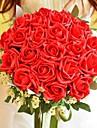 """Flori de Nuntă Rotund Trandafiri Buchete Nuntă Poliester Mătase 11.8""""(Approx.30cm)"""