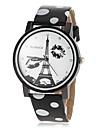 Pentru femei Ceas Elegant  Ceas La Modă Quartz PU Bandă Turnul Eiffel Negru Alb Albastru Roșu