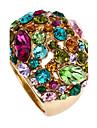 Dame Inele Afirmatoare La modă Bijuterii Statement bijuterii de lux costum de bijuterii Ștras 18K de aur Aliaj Bijuterii Pentru Petrecere