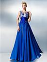 Linia -A Bijuterie Lungime Podea Șifon Dantelă Bal Rochie cu Mărgele Broderie Dantelă de TS Couture®