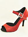 anpassade mousserande glitter med spänne skor dansföreställning (fler färger)