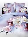 Seturi Duvet Cover #D 4 Piese Poliester Imprimeu reactiv Poliester 4pcs (1 Plapumă Duvet, 1 Cearceaf Plat, 2 Shams)