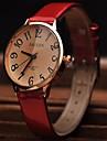 Pentru femei Ceas La Modă Ceas de Mână Ceas Elegant  Quartz Piele Bandă Roșu