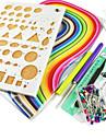 colore quilling papier bricolage artisanat kit de decoration d\'art drole et creatif (7pcs / set)