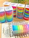 30buc populare Washi curcubeu hârtie adezivă adezivă de mascare bandă decorative scrapbooking DIY pentru decorative 10 culori