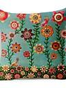 flori colorate de bumbac / lenjerie pernă capac decorativ