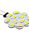 2W G4 LED a Double Broches 12 diodes electroluminescentes SMD 5630 Blanc Chaud Blanc Froid 250lm 3500/6000K DC 12V
