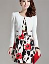 femei floare de imprimare vesta rochii subțire (blazer& rochie)