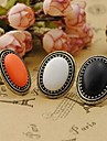 Women\'s Statement Ring Alloy Ladies Vintage Fashion Elegant Ring Jewelry White / Black / Orange For Party Daily Casual Cosplay Costumes Adjustable