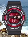 Herrn Sportuhr / Armbanduhr Alarm / Kalender / Wasserdicht Caucho Band Charme Schwarz / LCD / Zwei jahr / Maxell CR2025