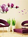 autocolante de perete decalcomanii de perete, romantice mangnolia pvc autocolante de perete naturale