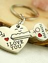Nyckelring Smycken Legering Gulligt Älskare Kärlek Dagliga kläder Herr Dam