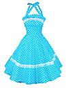 50 de ani căpăstru Maggie Tang femei epocă buline casnică rockabilly rochie leagăn, plus dimensiunea