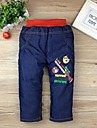 Boy's Fashion Cartoon Printed Cotton Jeans