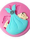 fyra c silikon cupcake mögel bebis tårta dekor mögel kaka dekoration, fondant dekorera verktyg levererar färgen rosa