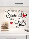 väggdekorationer Väggdekaler, är detta kök kryddat med kärlek pvc kök klistermärken