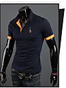 MEN - Tricouri (Amestec Bumbac) Informal Guler cămașă - Mânecă scurtă