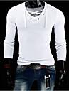 MEN - Tricouri ( Amestec Bumbac ) Informal Decolteu În V - Mânecă Lungă