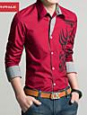 MANWAN WALK®Men's Casual Slim Fit Dragon Print Shirt,Fashion Long Sleeve Shirt.