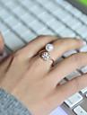 Pentru femei Band Ring Lux Ajustabile Perle Ștras Diamante Artificiale Aliaj Costum de bijuterii Nuntă Petrecere Zilnic Casual Sport