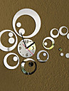 3D Modern Style Acrylic DIY Ring Mirror Wall Clock