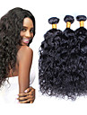 Cheveux humains Cheveux Péruviens Tissages de cheveux humains Ondulation Prononcée Extensions de cheveux 3 Pièces Noir naturel