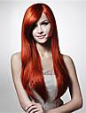 Synthetische Peruecken Glatt / Wasserwellen Stil Asymmetrischer Haarschnitt Kappenlos Peruecke Rot Rot Synthetische Haare Damen Natuerlicher Haaransatz Rot Peruecke Lang Cosplay Peruecke