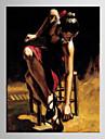 Hang-pictate pictură în ulei Pictat manual - Oameni Stil European Modern pânză