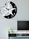moon, stil modern&rășină stea ceas de perete mut