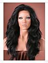 Synthetische Peruecken Natuerlich gewellt Stil Spitzenfront Peruecke Schwarz Dunkelbraun Mittelbraun Synthetische Haare Peruecke Halloween Peruecke