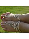 Dame Brățară Gleznă/Brățări Cristal imitație de diamant Design Unic La modă Bijuterii Argintiu Femei BijuteriiNuntă Petrecere Zilnic