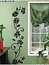 flori negre clasice Decal perete de viță de vie zooyoo8139 decorativ ADESIVO de Parede vinil detașabil perete autocolant