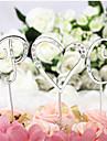 Vârfuri de Tort Nepersonalizat Monogramă CromQuinceañera & Dulcele 16 / Zi de Naștere / Nuntă / Aniversare / Petrecerea Bridal Shower /