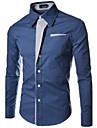 MEN - Cămăși Casual ( Amestec Bumbac ) Informal Guler cămașă - Mânecă Lungă