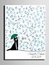 e-home® amprente personalizate printuri pictură panza - două persoane (include 12 culori de cerneală)