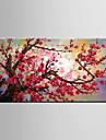 HANDMÅLAD Stilleben Blommig/Botanisk Moderna En panel Hang målad oljemålning For Hem-dekoration
