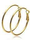 Dame Cercei Rotunzi  costum de bijuterii Auriu Circle Shape Bijuterii Pentru
