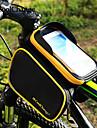 CoolChange Sac de cadre de velo Sac a dos Cyclisme Accessoires Sac a dos Sac de telephone portable 6.2 pouce Bande reflechissante Etanche