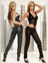 Hot Lady Negru PU piele femei SM Style uniforme Sexy