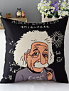 stil modern desen animat Einstein bumbac / lenjerie decorative pernă capac