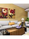 Inramad oljemålning Blommig/Botanisk Oljemålning Väggkonst, Akryl Material med ram Hem-dekoration ramkonst Vardagsrum