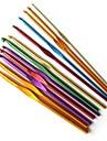 12 buc de culoare de aluminiu croșete tricotat 2mm-8mm
