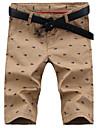 Bărbați Clasic & Fără Vârstă Pantaloni Scurți Pantaloni Imprimeu Culoare solidă