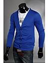 Bărbați Jachetă Clasic & Fără Vârstă-Culoare solidă,Culoare pură