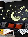 Romantic / Modă / Vacanță / Forme / Fantezie / Timp Liber Perete Postituri Autocolante perete luminoase , PVC 21*29.7cm