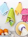 utformade självhäftande trasa hållare handdukskrok kök (slumpvis färg)