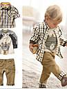 Fecioresc Fecioresc Set Îmbrăcăminte Toate Sezoanele Dungi Bumbac / Poliester