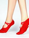 Pentru femei Pantofi de Balet Pânză Josi Performanță Toc Drept Personalizabili Pantofi de dans Negru / Roșu / Roz
