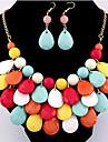 Seturi de bijuterii Bohemia Stil costum de bijuterii Picătură Σκουλαρίκια Lănțișor Pentru Petrecere Cadouri de nunta