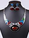 Pentru femei Seturi de bijuterii Cercei Picătură Coliere cu Pandativ Piete Prețioase & Cristal Pietre sintetice Cristal Zirconiu Cubic